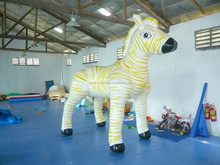 promotion pvc inflatable zebra for advertising events