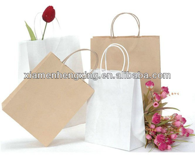 White kraft paper food bags packing distributor