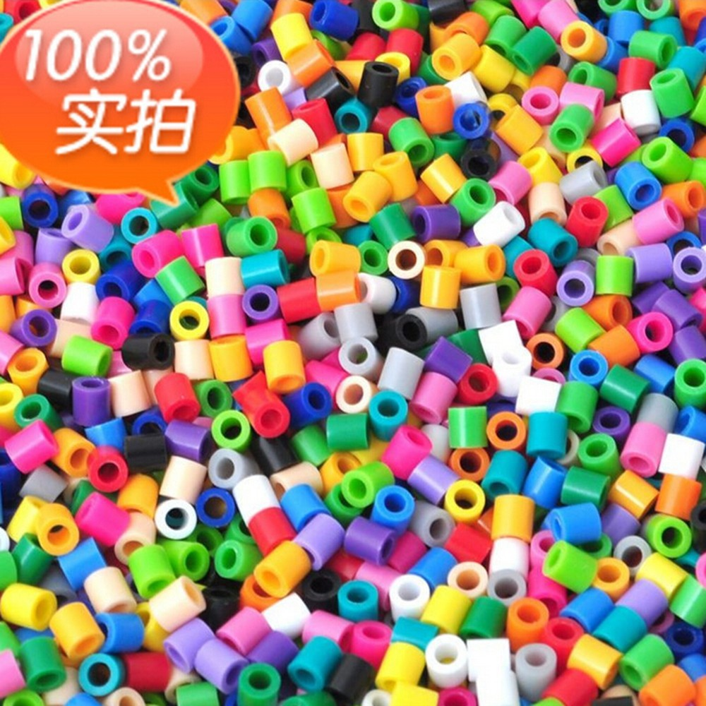 EN71 1000pcs HAMA/PERLER BEADS for GREAT Kids Great Fun 55 single color