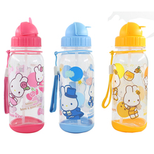 bulk buy high quality straw cup bottle with straw and strap child feeding bottle with straw