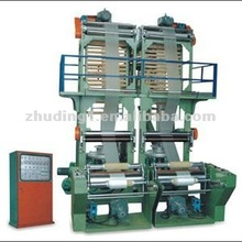 Single screw Double die Film Extrusion Machine