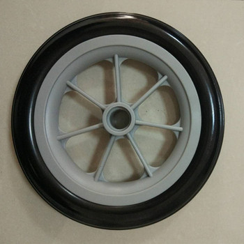Baby Cart Application Wheel Polyurethane Foam Filled Wheel With Plastic Rims