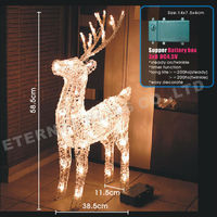 2015 3d large outdoor christmas reindeer led light