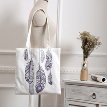 Wholesale Younger Fashion Custom Print Recycling Student Beach Canvas bag