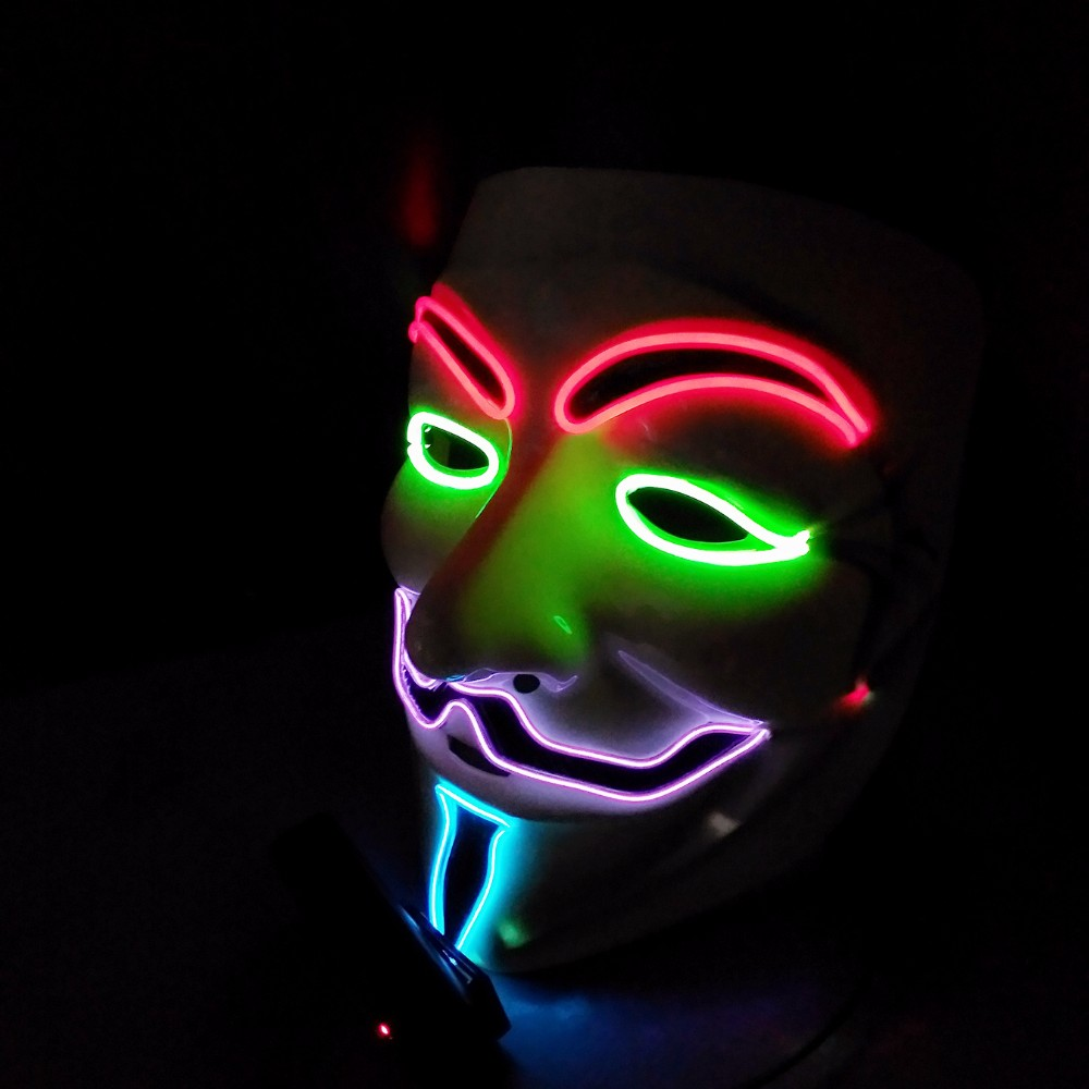 2018 Led Sound Activated Custom El Wire Halloween Party Light Up ...