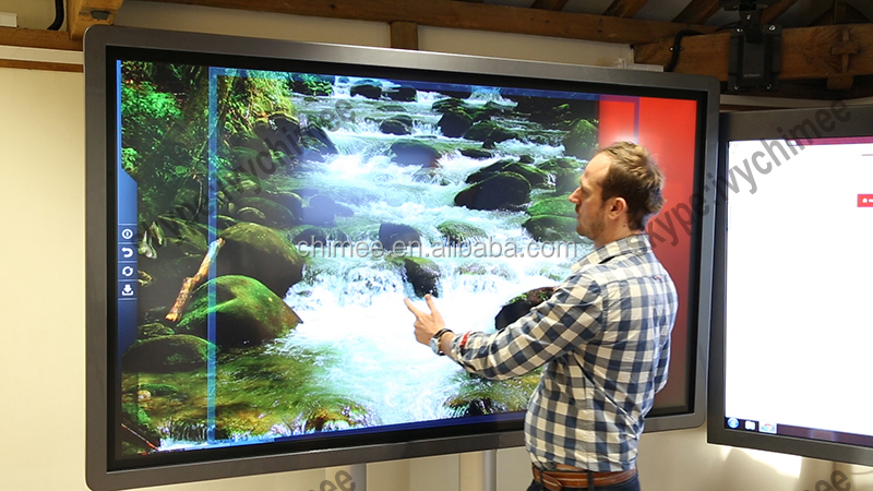 84 inch led scren 3d monitor high performance IR touch digital signage airport