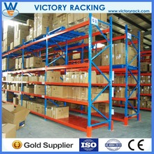 Blue and orange pallet racking adjustable garage shelving systems