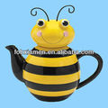 Decorative ceramic bee shaped honey jar for sale