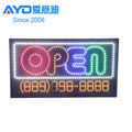 Hotcake Indoor Advertising LED Open Sign Thai Massage Spa Program LED Display LED Gas Price Sign