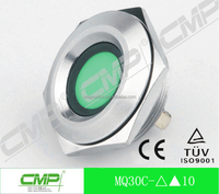 30mm Diameter Mechanical metal led Signal lamp,220 Volt Green led