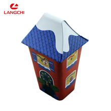 House Shape Tin Box For Candy Packing