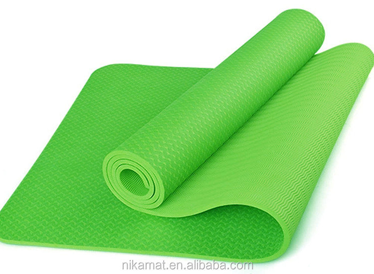 Wholesale New Pattern Yoga Exercise Mat 6mm TPE Yoga Mat Manufacturer, Custom Eco Friendly Yoga Mat With Diamond Pattern