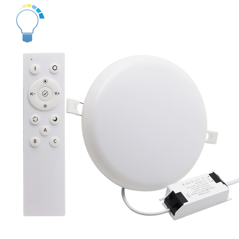 super bright PC aluminum 18 watt ceiling lamp round panel recessed lamp 18w embedded led light <strong>downlight</strong>