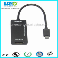 Factory supply hdmi or micro usb input to micro usb output adapter cable