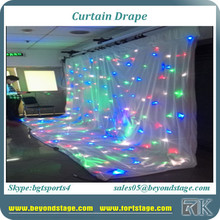 Led star effect stage lighting wedding backdrop curtains