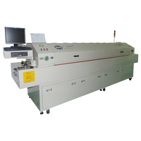 Reflow Oven Video Adapter IPC+PLC Control 16 Heating Zone 2 Cooling Zone GSD-M8N Lead Free Reflow Soldering Equipment