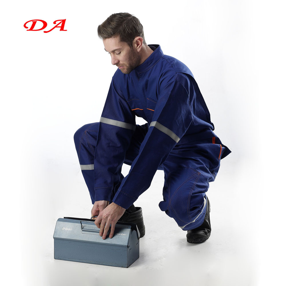 Men Reflective Navy Working Coverall for Work