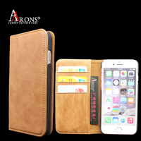 Genuine leather mobile phone shell flip protective cover case for iphone 7