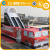 Red Inflatable Fire Truck Slide,21ft High Commercial Inflatable Slide,Fire Truck Inflatable Water Slide for Sale