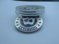 Free shipping high quality custom metal poker chip display case