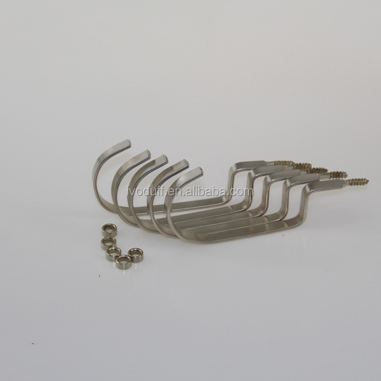 Manufacture Flat Curve Hanger Hook With Screws