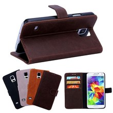 BRG New Arrival Lychee Pattern Wallet Leather Phone Case Cover for Samsung Galaxy s5