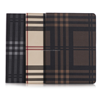 Amazon hot selling Grid Stand Leather Case for iPad Pro with wake up function