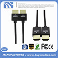Ultra Slim HDMI Cable with Ethernet 1m 2m 3m 5m 8m 10m 1.4 for HD TV's / Xbox 360 / PS3 / Playstation 3 / SkyHD