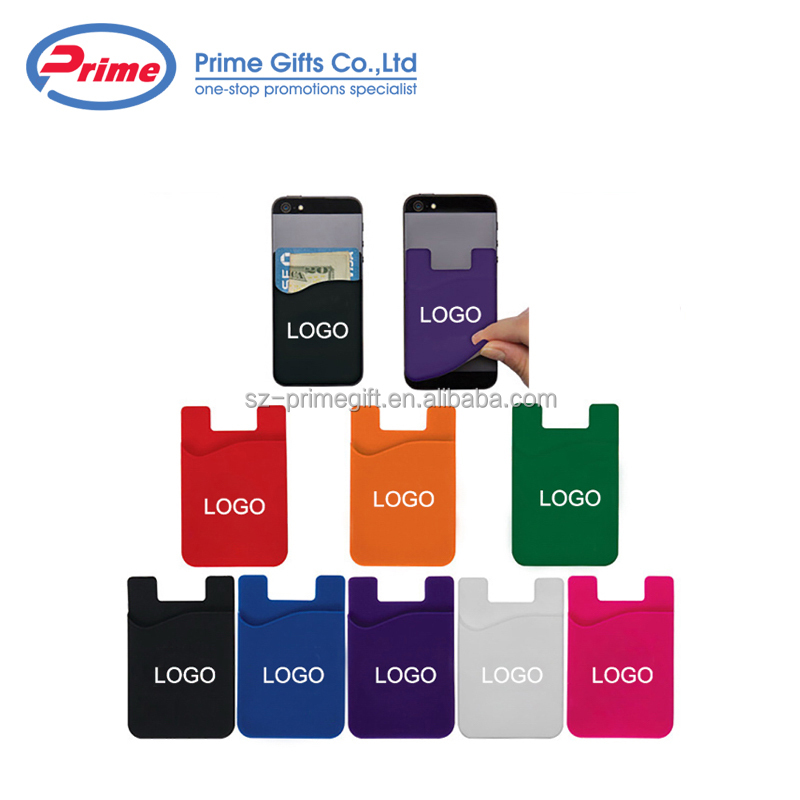 Promotional Adhesive Silicone Credit Card Holder with Custom Logo
