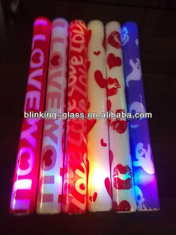 custom led foam glow sticks cheer baton