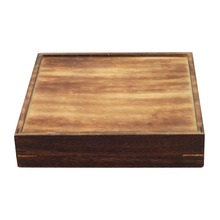 Charcoal burning do old custom wooden gift box/wooden packing box
