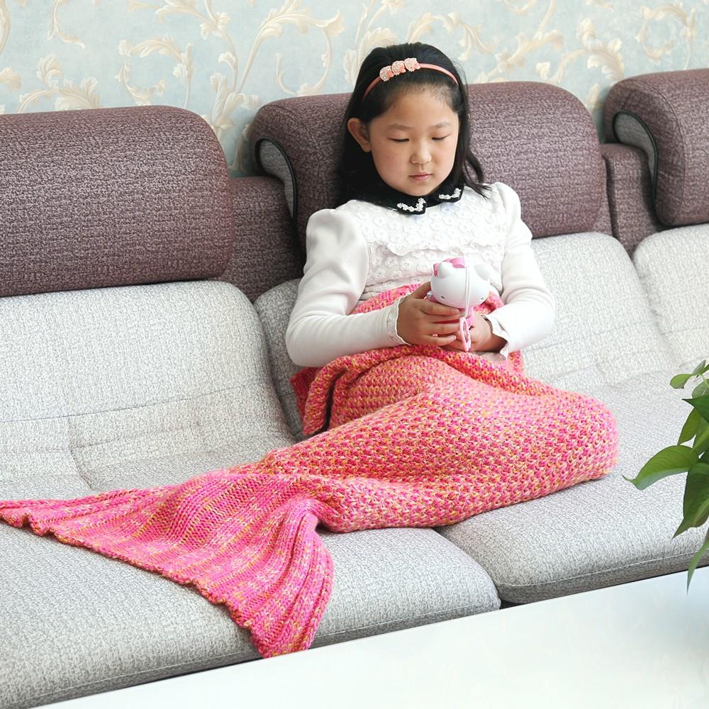 Mermaid Tail Crochet Mantas Patrones Libres, mantas de Punto-Sábana ...