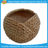 creative bulk brown ceramic/terracotta flower pot