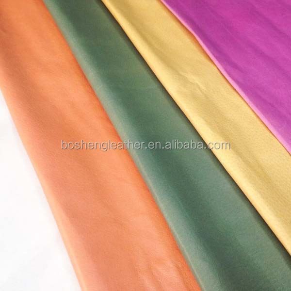 Various kinds of pigskin for shoe lining leather