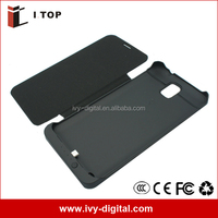 External Battery case For Samsung Galaxy Note 3 N9000 Backup Battery with flip cover