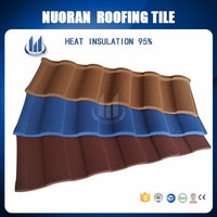 Africa Hot Sell 1340*420mm Decorative Roman Colorful Stone Coated Metal Roof Tile