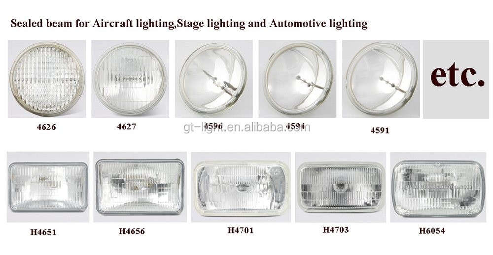 Sealed beam H6054 Auto head lamp 200x142