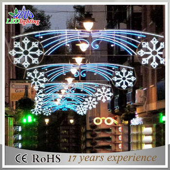 LED Big Snowflake Street Motif Light To Decorate Christmas (CE/ROHS/SAA)