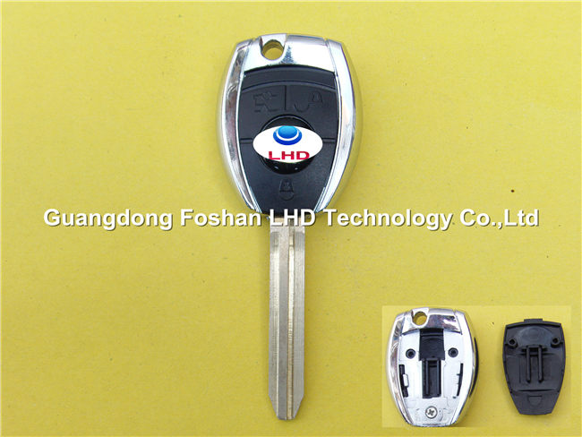 3 buttons blank transponder key shell for Toyota TOY43 blade remote key