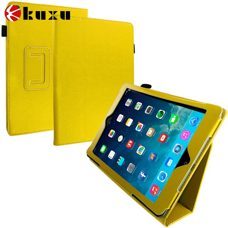 for ipad air Compatible Brand and Yellow PU Material for ipad air 6 shockproof case