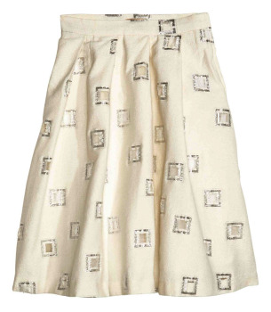 High waist printed pattern pleated pictures of long skirts