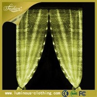 light emitting luxury european style fancy office window curtain