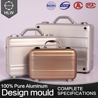 HLW wholesale aluminum jewelry briefcase waterproof tool box