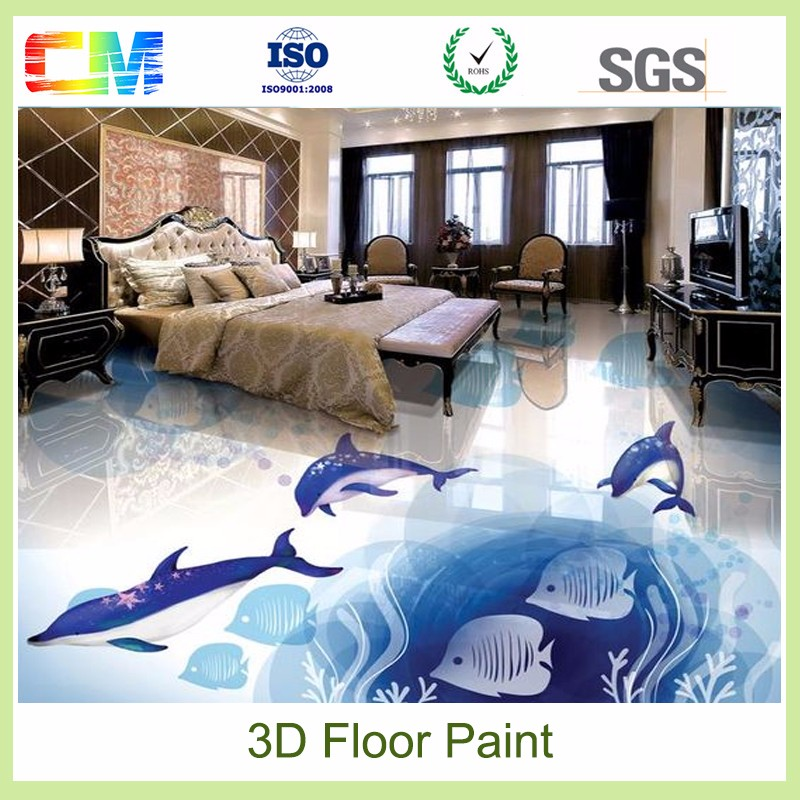 Chemical anti salt good abrasive resistance liquid resin 3d epoxy floor paint