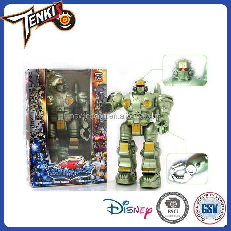 NewLesson Blue ABS material tobot transforming tin robot brick toys for kids