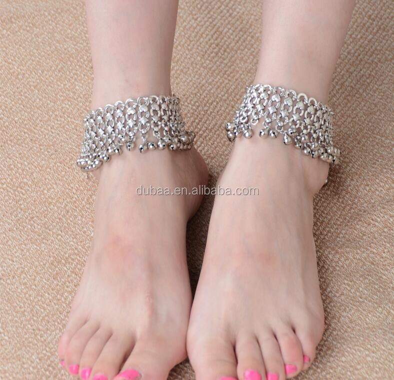Bell Beads Ethnic Anklet Antique Ankle Bracelet Jewelry Indian Bell Charms Anklet