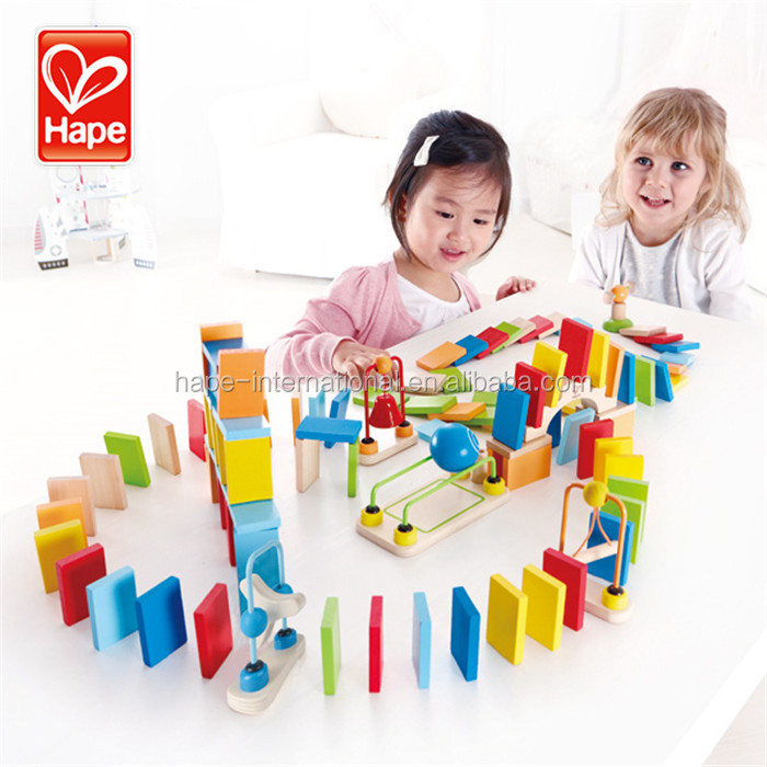 Nontoxic water-based color wooden learning domino toys