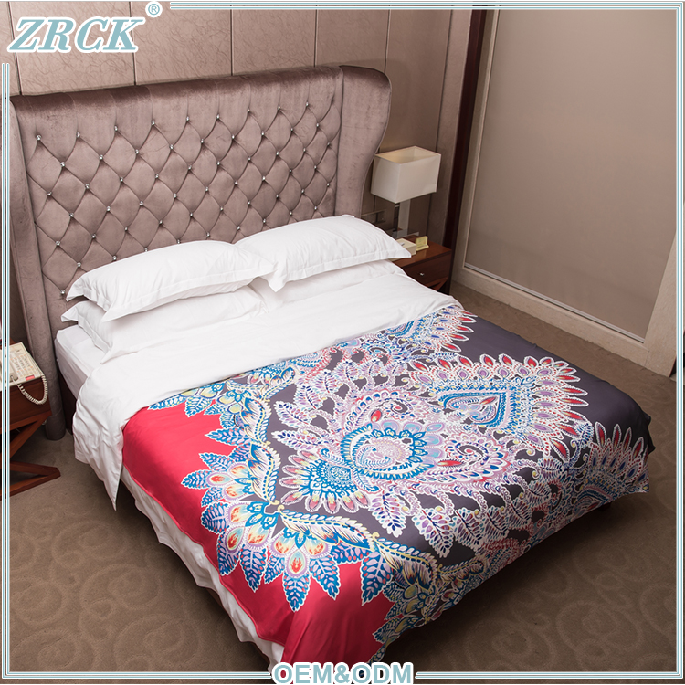 Colorful luxury mandala wholesale hotel bed linen guangzhou