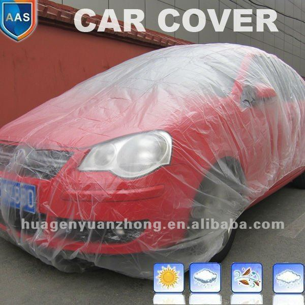 Professional Manufacturers Plastic Car Cover/flood car cover