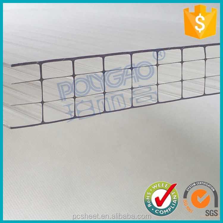 bayer Virgin Polycarbonate Material Greenhouse Polycarbonate Anti-fog Hollow Sheet plastic greenhouse panels
